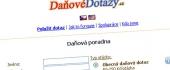 Уеб дизайн за DanoveDotAzy.cz - онлайн помощ при попълване на данъчни декларации